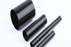 Tubo redondo de fibra de carbono enrollable