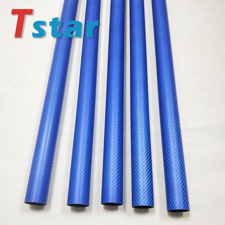 3K blue carbon fiber tube 4