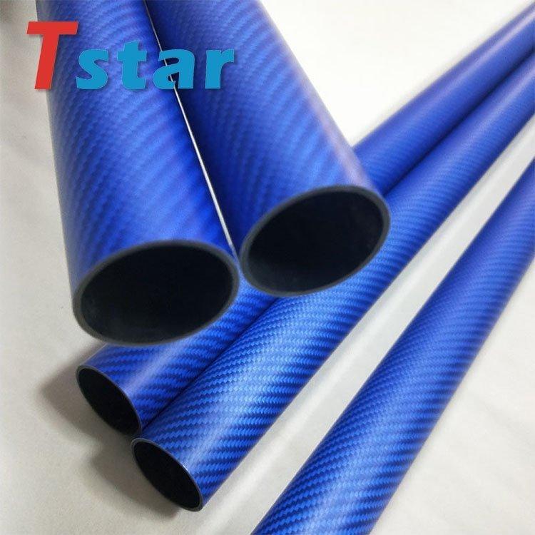 3K blue carbon fiber tube 8