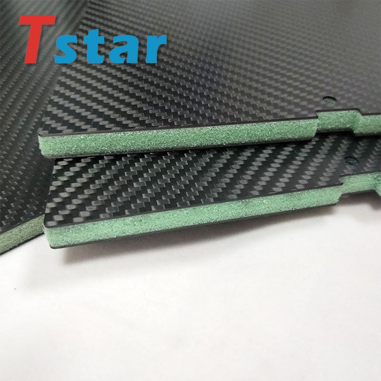 Carbon fiber sheet with PVC form core in the middle 4