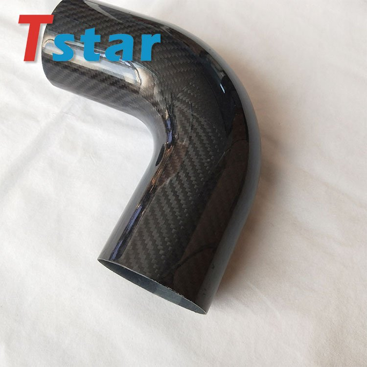 3K carbon fiber bent tube 18