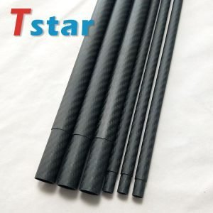 matte finish carbon fiber telescopic round tube tubing pipe pole