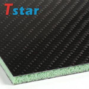 Carbon fiber sheet with PVC